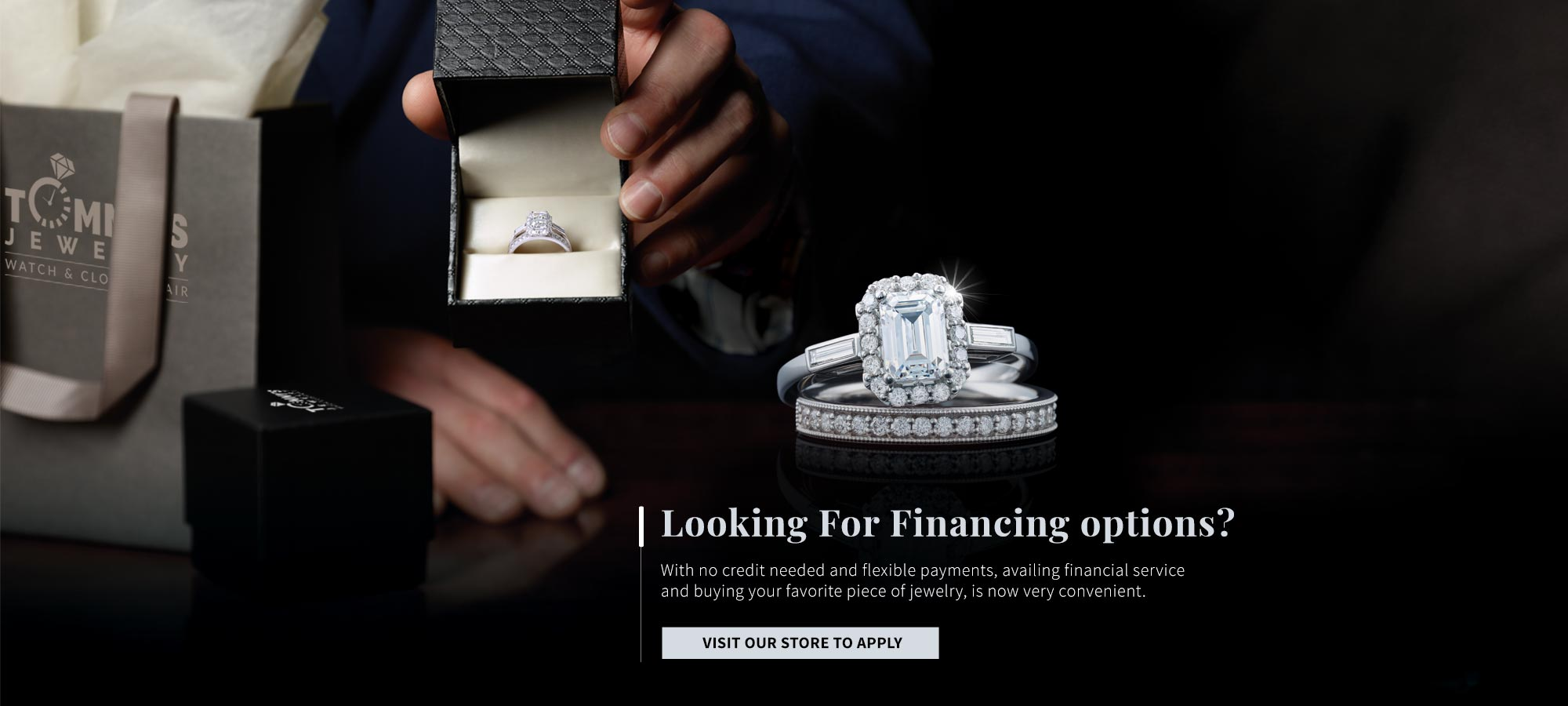 Jewelry Financing Option Available At Tommy's Jewelry Watch & Clock Repair